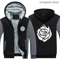 RWBY Hoodie - Get the Rose Schnee Belladonna Symbols on These Awesome Hoodies - gray 1 / S - clothes