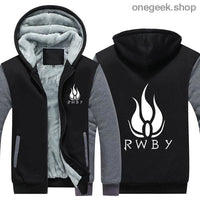 RWBY Hoodie - Get the Rose Schnee Belladonna Symbols on These Awesome Hoodies - gray / S - clothes