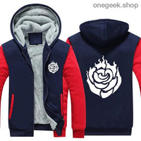 RWBY Hoodie - Get the Rose Schnee Belladonna Symbols on These Awesome Hoodies - red / S - clothes