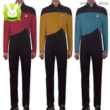 Star Trek Adult Cosplay Jumpsuit Costumes With Free Badge - clothes