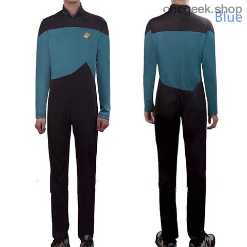 Star Trek Adult Cosplay Jumpsuit Costumes With Free Badge - Blue / XXL / Star Trek - clothes