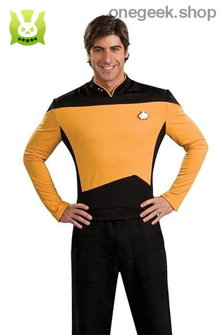 Star Trek Cosplay - The Next Generation Costume Uniform: Red Yellow And Blue - yellow / S / star trek - clothes