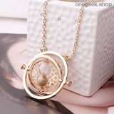Time-Turner Hourglass 360 Degree Rotatable Harry Potter Pendant Necklace - accessories