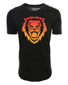 Rawr Lion Elongated Shirts - Black/Multicolor