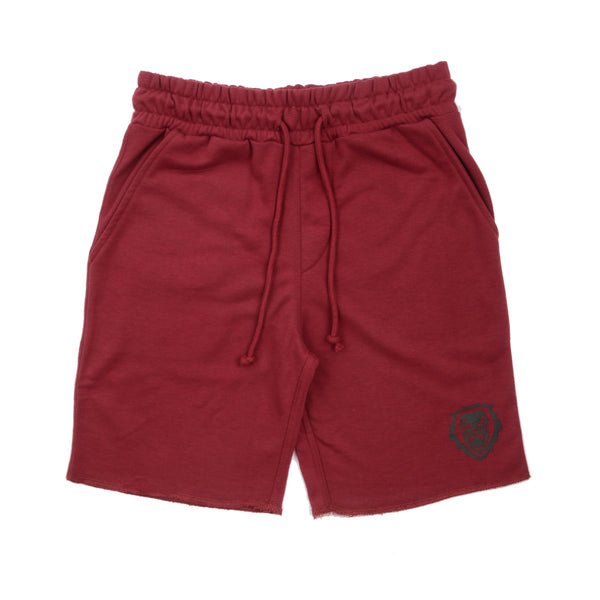 Rawr Premium French Terry Shorts - Burgundy