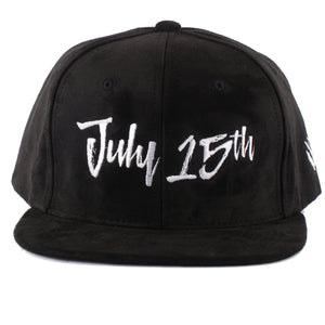 Rawr July 15th Suede Snapback Hat - Black/White
