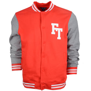 Letterman Varsity Jacket Old Merch - Grey/Red