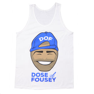 Dose of Fousey Tank Old Merch - White