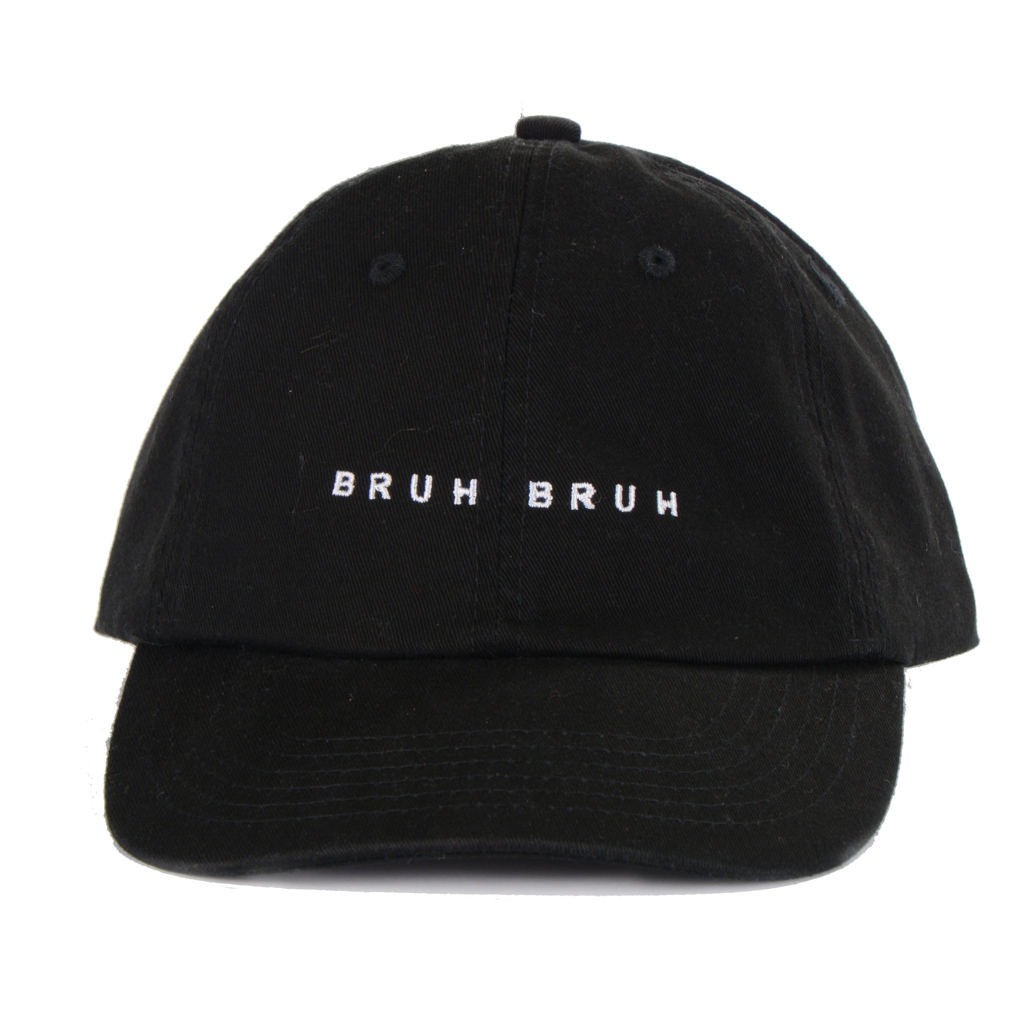 Bruh Bruh Dad Hat Old Merch - Black