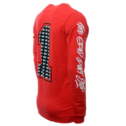 Rawr 1 Milli Long Sleeve Shirt - Red