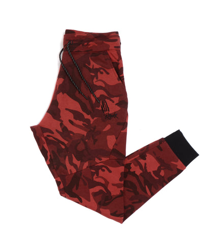 Rawr Premium French Terry Joggers - Camo Red