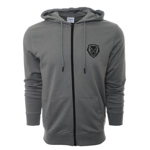 Rawr Lion Premium French Terry Zip-up Hoodie - Sage