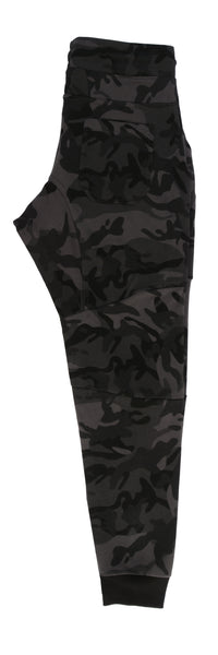 Rawr Premium French Terry Joggers - Camo Black