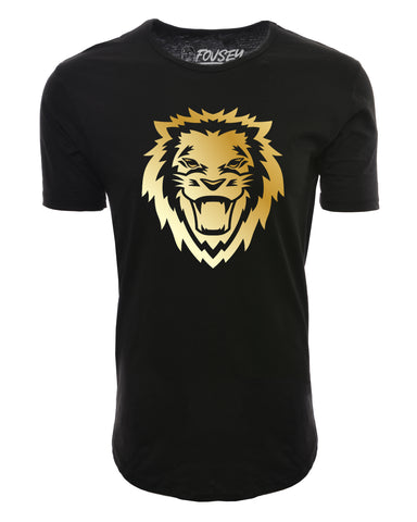 Rawr Lion Elongated Shirts - Black/Gold