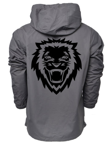 Lion Rawr Waterproof Anorak Windbreaker - Grey