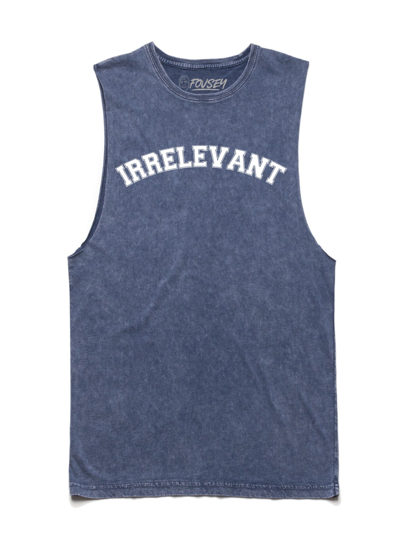Irrelevant Muscle Tank Top - Blue Stone