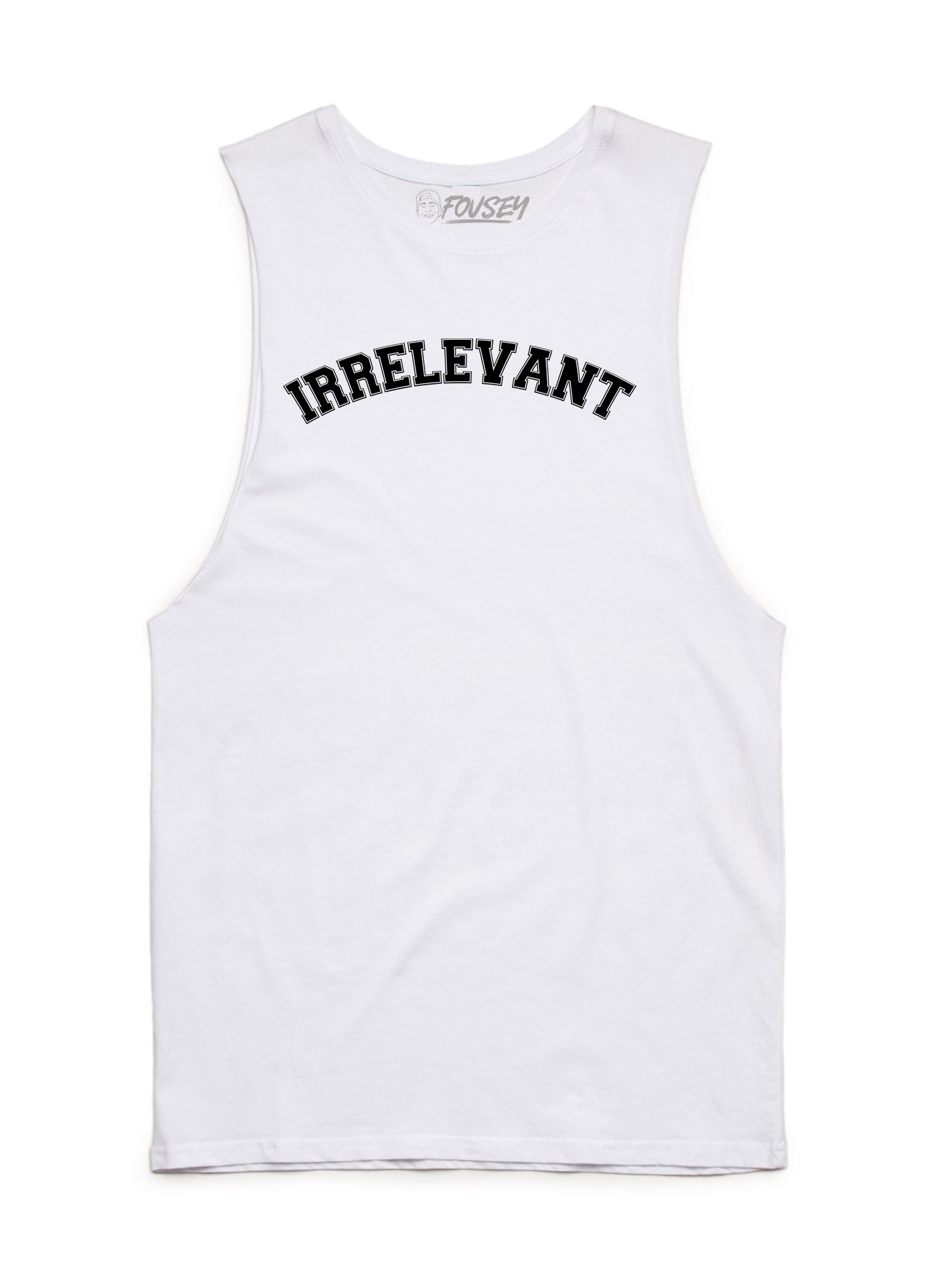 Irrelevant Muscle Tank Top - White