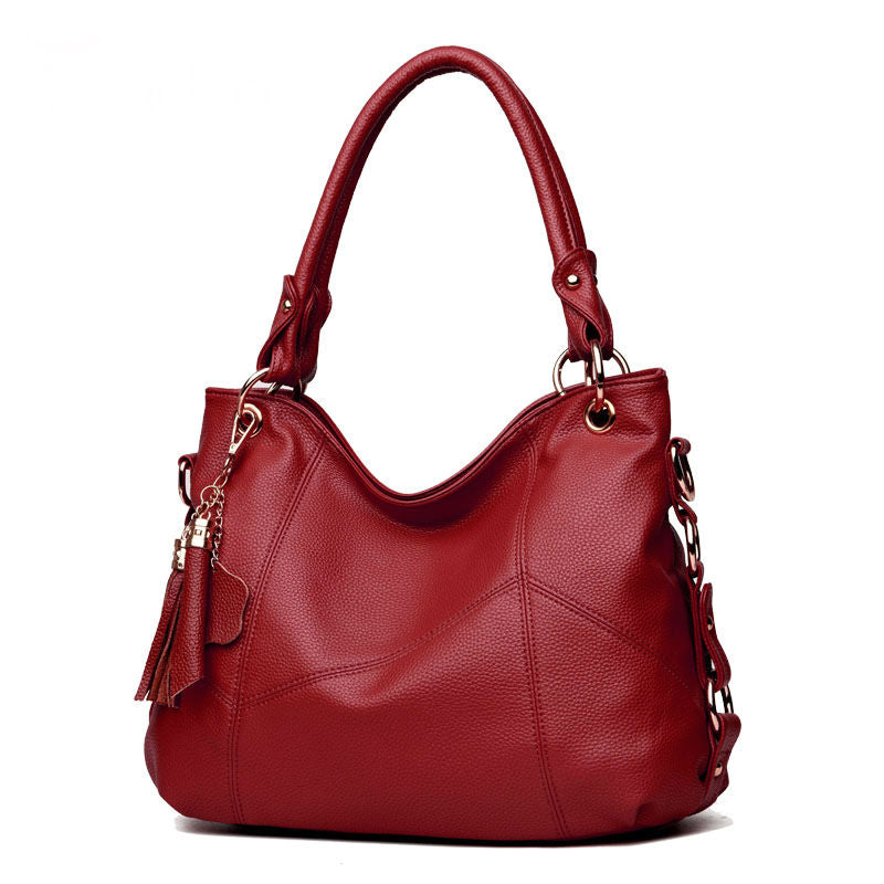 Women High Quality PU Leather Hobos Bags Designer Handbags Top-Handle Messenger Bags Larg Crossbody Casual Tote Bag Sac A Main