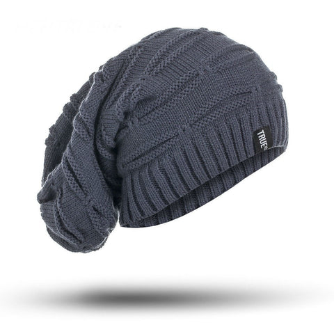 Image of True  Knitted Winter Hat Solid Color Unisex Beanie