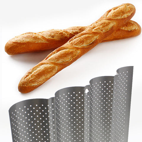 1pc! 4 Slot Wave Method Stick  Mold Four Way French Bread Baking Pan U - Shaped Baking Mold High Temperature Resistant