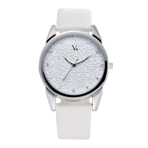 Image of Flower Face Quartz Wrist Watch Women