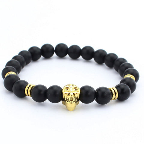 High quality matte beads bracelets Spartan warrior Mask bracelet - Free + Shipping