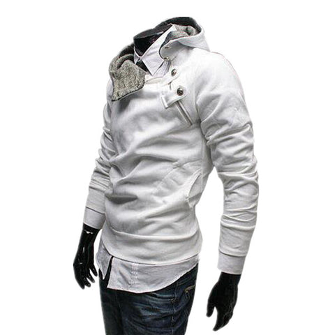 2017 Men's Casual Hoodies Mens Turtleneck Hooded Jumper Thicken Warm  Sweatshirts Big Size M-3XL