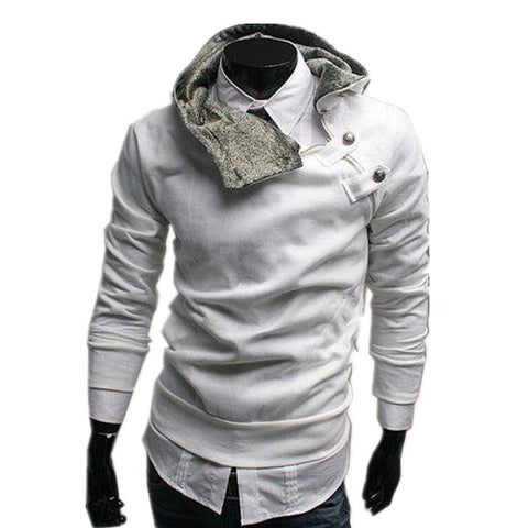 Image of 2017 Men's Casual Hoodies Mens Turtleneck Hooded Jumper Thicken Warm  Sweatshirts Big Size M-3XL