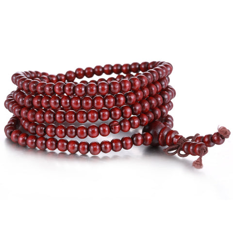Image of Free Pray Beads 216 *5mm red color Prayer beads Natural Sandalwood Buddhist Mala Buddha Unisex bracelets & bangles Jewelry Just Cover Shipping