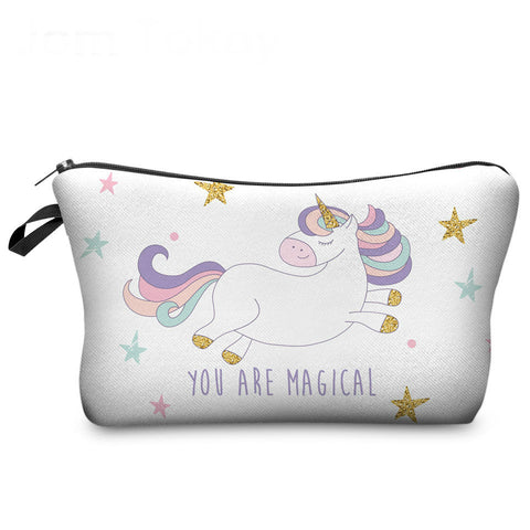 Unicorn Makeup Bags Multicolor Pattern Cute Cosmetics bags