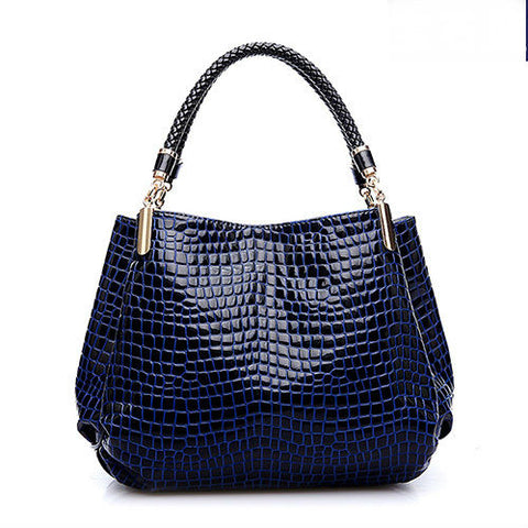 Image of Shoulder High Grade PU Leather Crocodile Pattern Bags