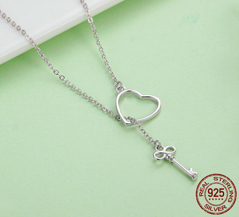 The Key To Your Heart Pendant Necklaces