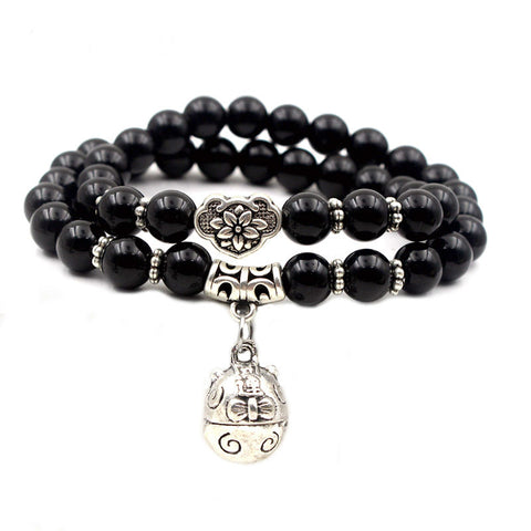 Image of Natural Black Onyx Stress Reducing Bracelets