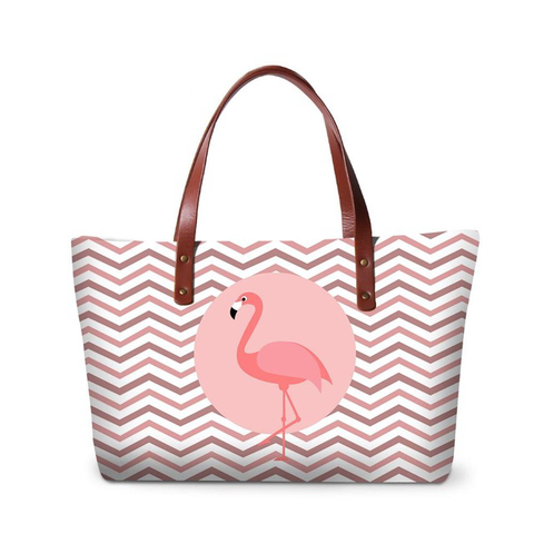 Image of Flamingos Messenger Tote Bag