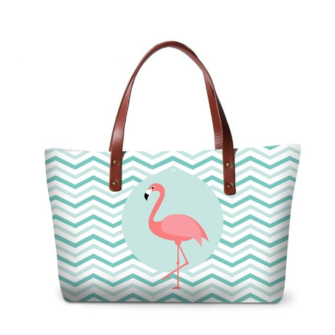 Flamingos Messenger Tote Bag