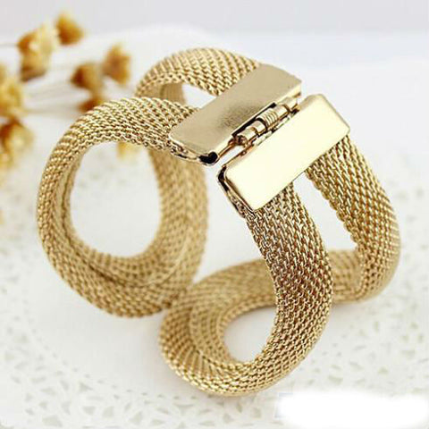 Image of Amazing  Antique Gold Plated Infinity Bracelet + Free Shipping
