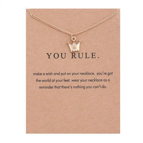 Image of Make a wish and You Rule Crown Necklace