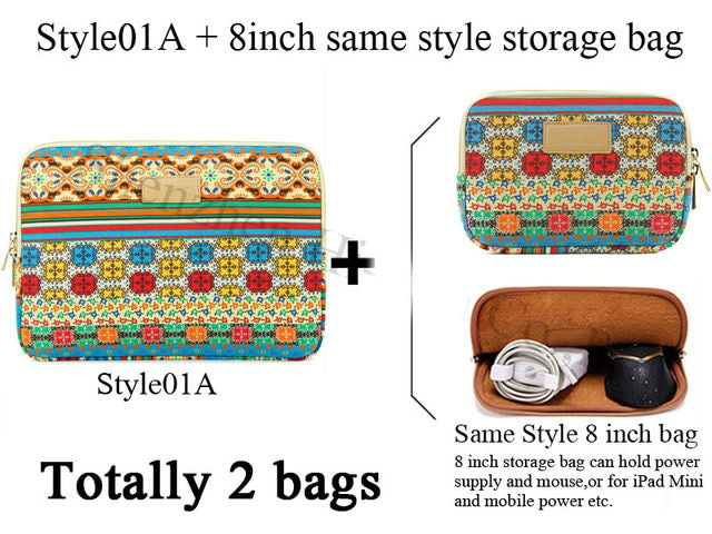 Genuine Bohemia Laptop Bag National Style Shockproof Waterproof Laptop Sleeve Notebook Case For Macbook 10/11/12/13.3/14/15/17""
