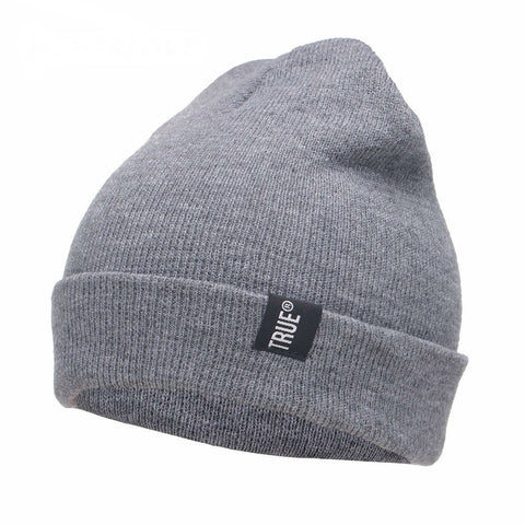 Image of True Knitted Winter Unisex Beanie in Solid Color