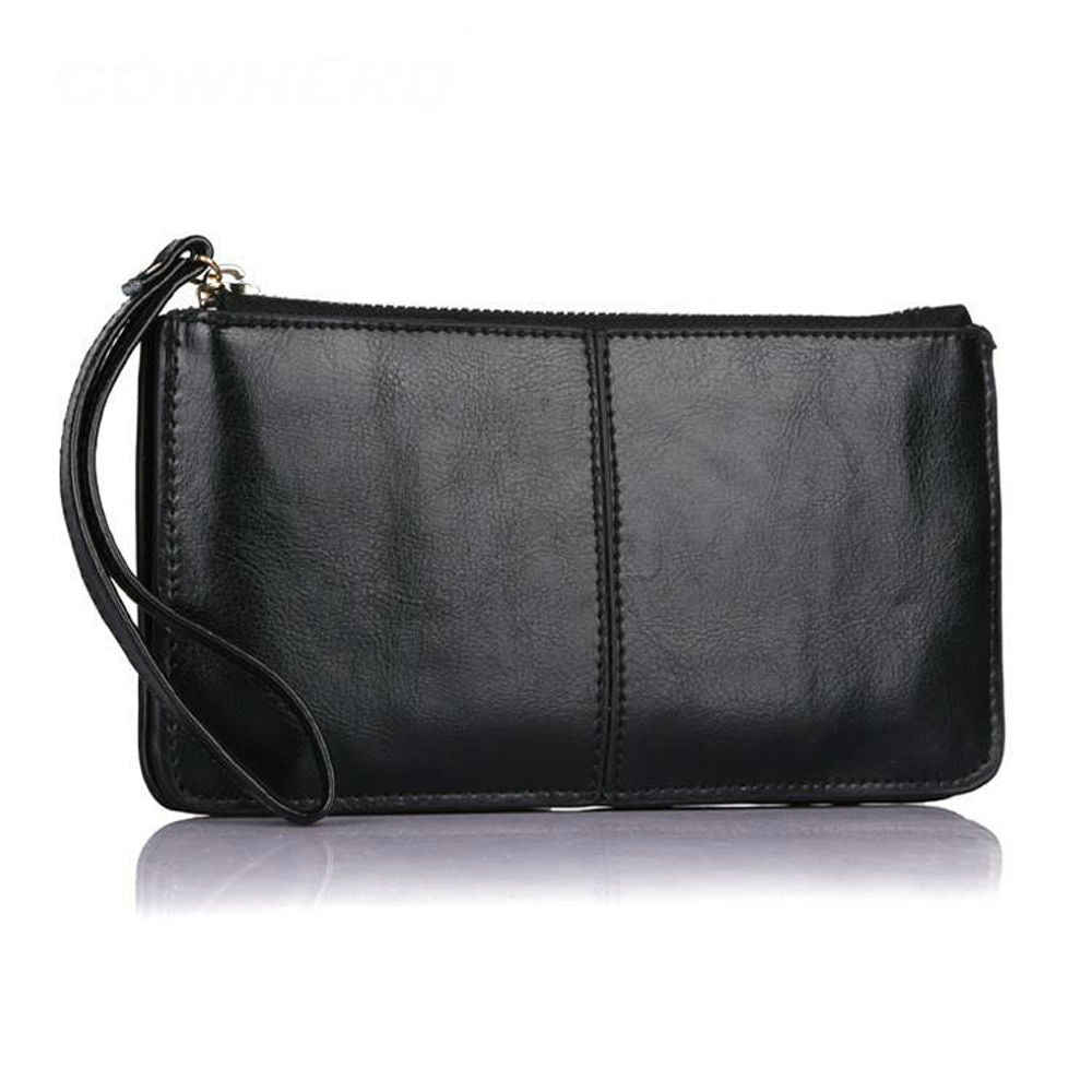 Perfect Wristlet Oil Wax Genuine Leather