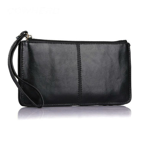 Image of Perfect Wristlet Oil Wax Genuine Leather