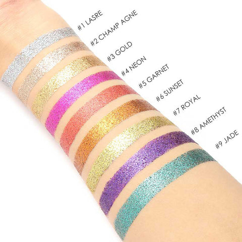 Image of 9 Color Shimmer Glitter Eye Powder Palette Matte Cosmetic Makeup Gift
