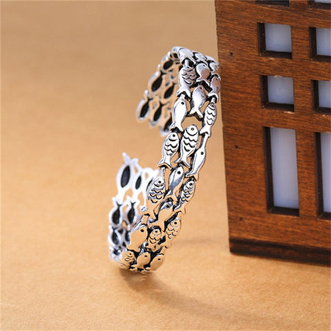 Image of 925 Sterling Silver Fish Bracelet