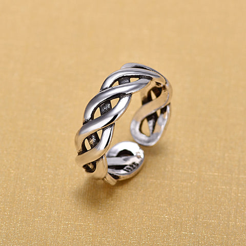 925 Sterling Silver Twisted Ring