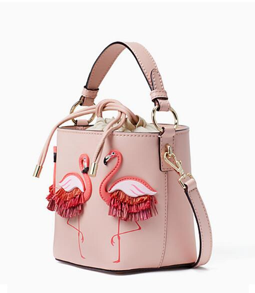 Flamingo bucket bag