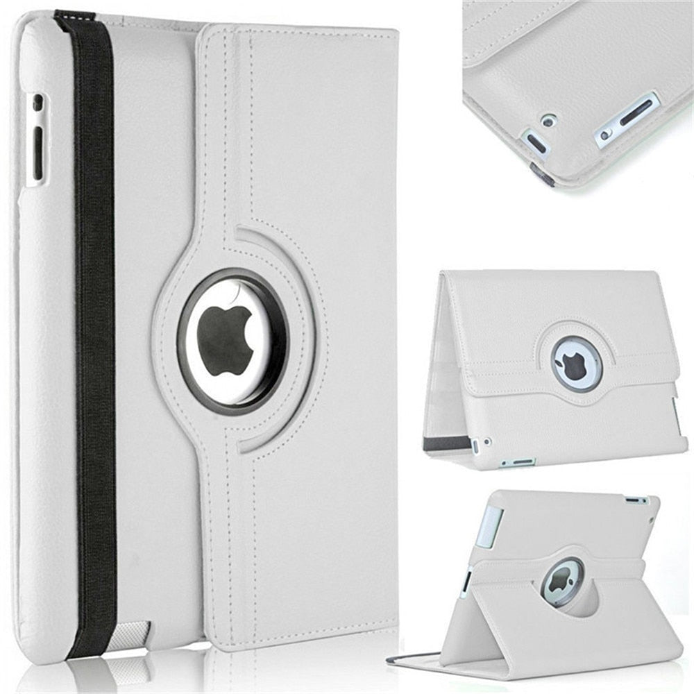Case For iPad 2 3 4 Leather Rotating Stand Cover For iPad 4 3 2 Tablet Protective Case