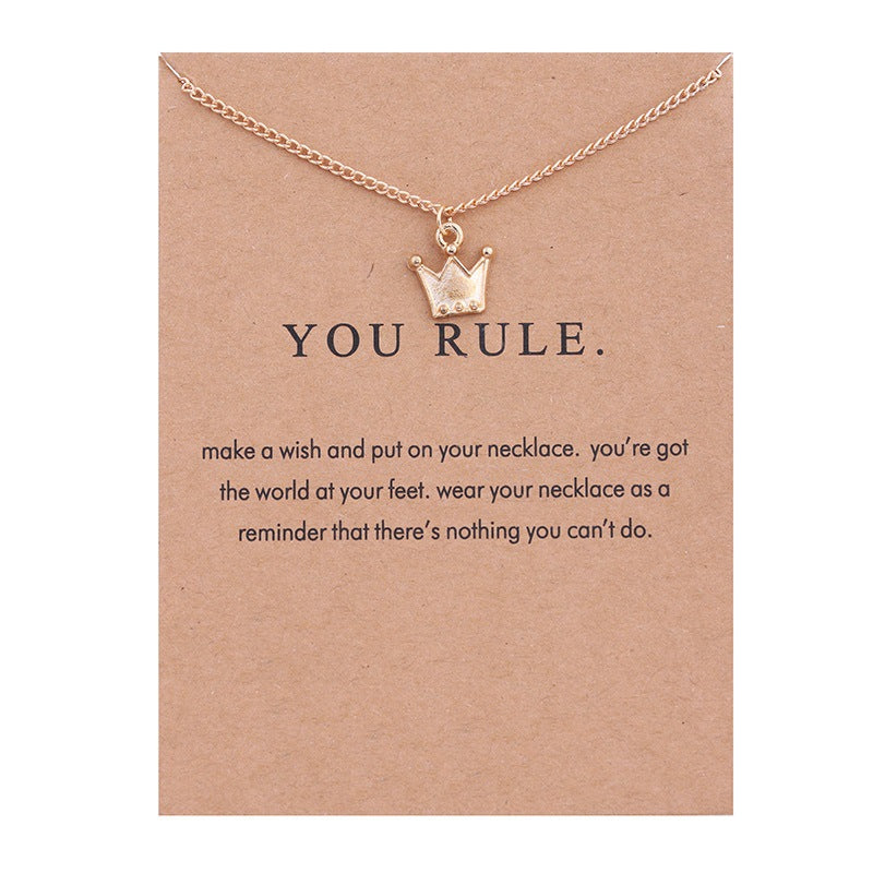 Make a wish and You Rule Crown Necklace