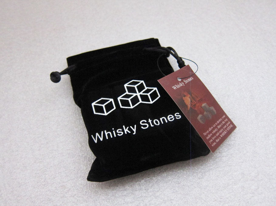 Drixon (6/9pc Set) 100% Natural Whiskey Stones Sipping Ice Cube Whisky Stone Whisky Rock Cooler Wedding Gift Favor Christmas Bar Men's gift