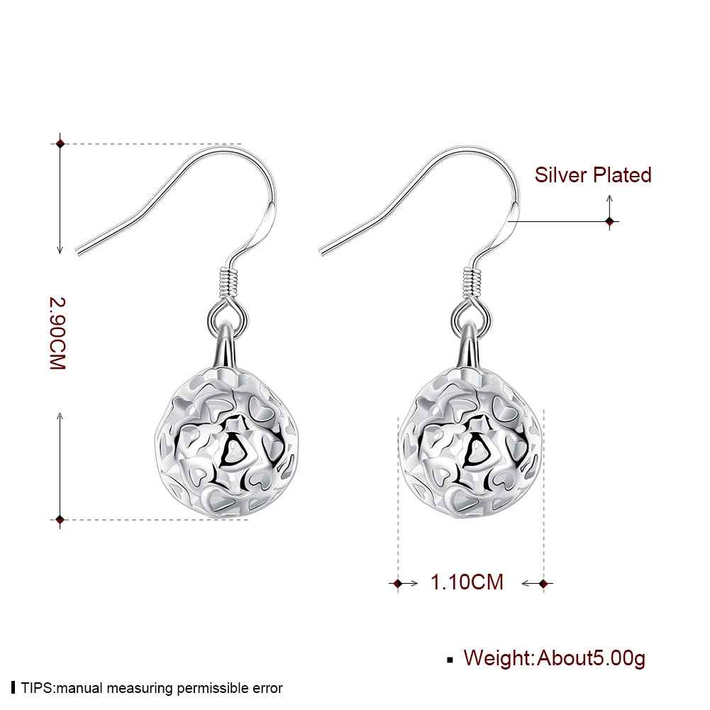 Silver plated earrings with heart cut-outs
