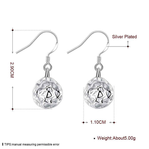 Image of Silver plated earrings with heart cut-outs